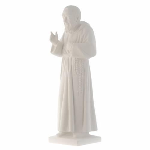Padre Pio, 50 cm statue in reconstituted Carrara marble s2