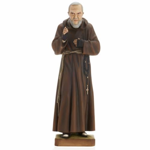 Padre Pío 60 cm en fibra de vidrio s1