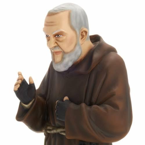 Padre Pío 60 cm en fibra de vidrio s2