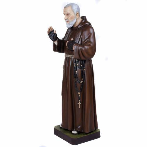 Padre Pio of Petralcina statue, 110 cm in painted marble dust s8
