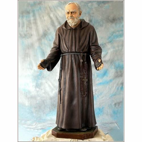 Padre Pio of Pietralcina statue in fiberglass, 150 cm by Landi s1