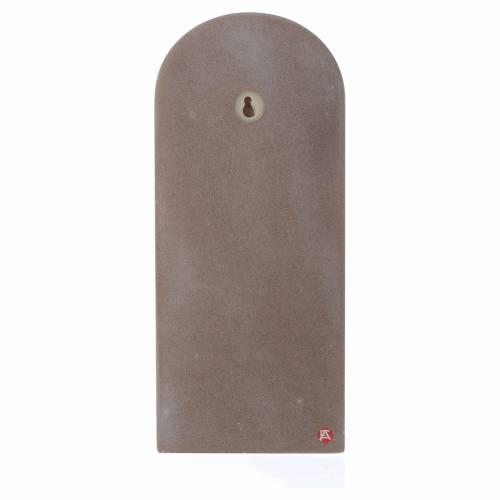 Pala Angelo di Dio con Angelo legno beige 30x10 cm s2