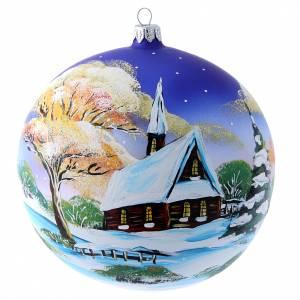 Palline di Natale: Palla paesaggio invernale al tramonto 150 mm