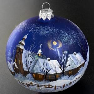 Palla per albero di Natale paesaggio notturno 10 cm s2