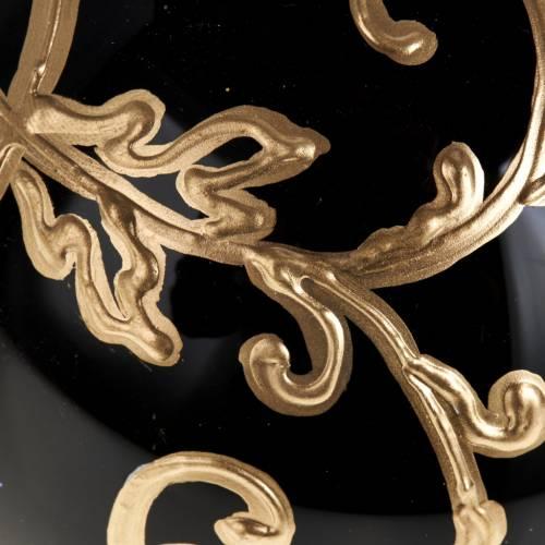 Palla per albero di Natale vetro nero oro 10 cm s2