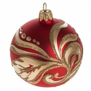 Pallina albero Natale decori artistici oro 8cm s1