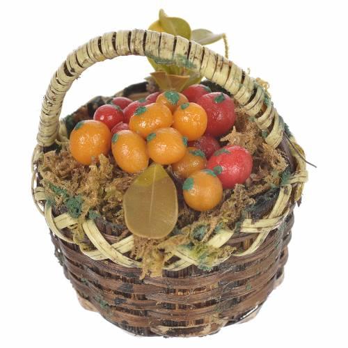 Panier avec fruits mixtes crèche pour santons 20-24 cm s2