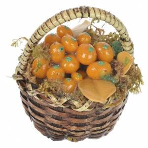 Panier avec fruits oranges crèche pour santons 20-24 cm s1