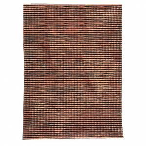 Panneau toit crèche rouge nuancé petites tuiles 70x50 cm s1