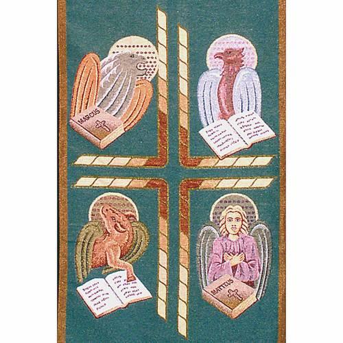 Paño de atril 4 evangelistas- fondo varios colores s4