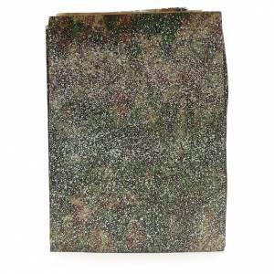 Papier rocher enneigé crèche 70x100 cm s1