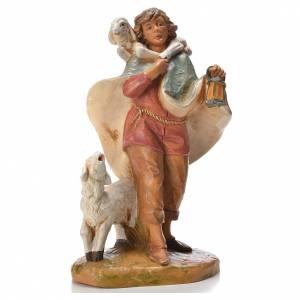 Figuras del Belén: Pastor con farol y oveja 19 cm Fontanini