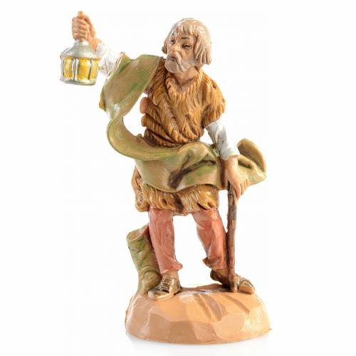 Pastor con lámpara Fontanini de 6,5cm s1