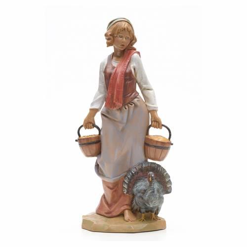 Pastora con pavo 30 cm Fontanini s1