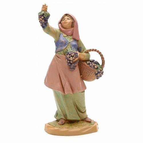 Pastora con uvas 12 cm Fontanini s3