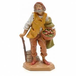 Statue per presepi: Pastore con canestro 12 cm Fontanini