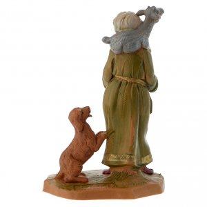 Pastore con capretta e cane 12 cm Fontanini s3