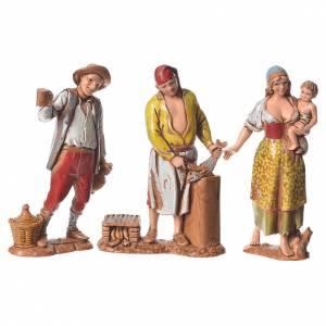 Pastores napolitanos 8 cm Moranduzzo 3 figuras s1