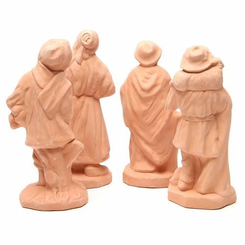 Pastori terracotta presepe 30 cm - set 4pz s4