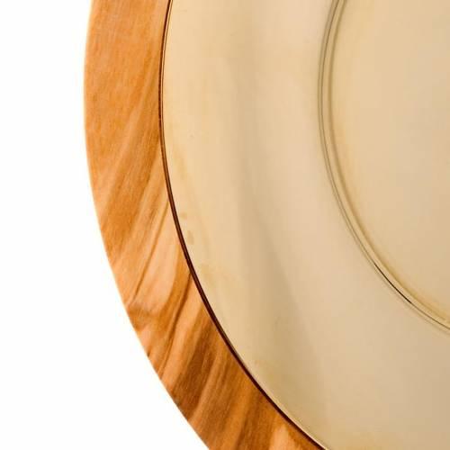 Patena olivo  e ottone dorato cm 18 s4