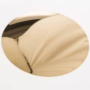 Patène laiton doré lisse 15cm s3