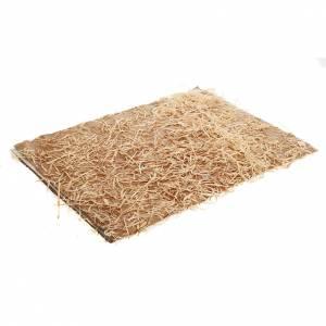 Fondos y pavimentos: Pavimento para el belén: hojas con heno de 35 x 50 cm.