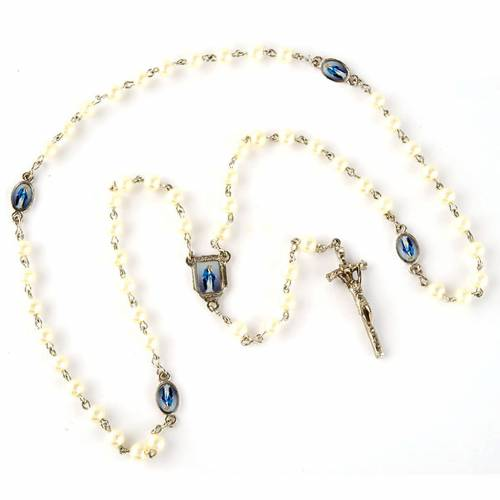 Pearled rosary with images (20 diam) s4