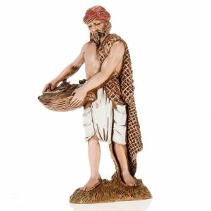 Santons crèche: Pécheur avec panier crèche Moranduzzo 10 cm