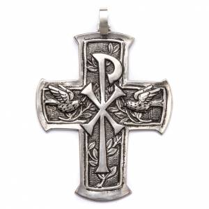 Bishop's items: Pectoral Cross made of silver 800, Chi-Rho