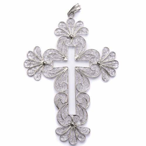 Pectoral Cross made of silver 800 filigree s1