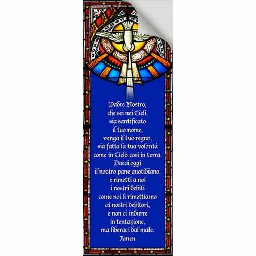 Pegatina para vidrios, Padre Nuestro 10,5x30 s2