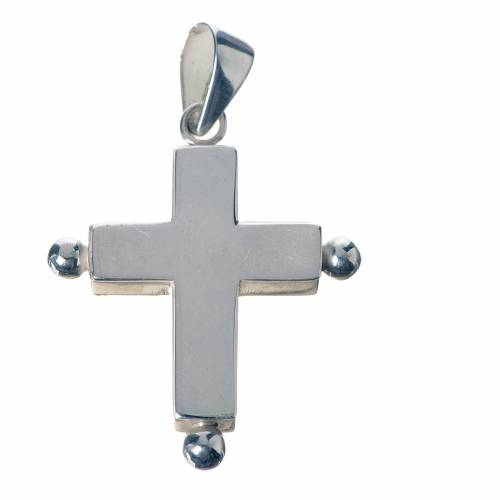 Pendant cross in 800 silver with relic case s1