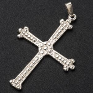 Pendant cross in silver, budded, 5x3,5 cm s2