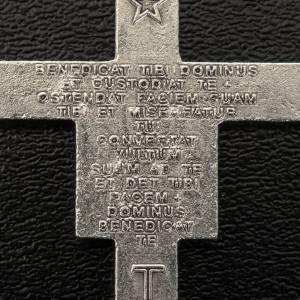 Rosari Fai Da Te: Croce rosari San Damiano metallo argentato h 3,6 cm
