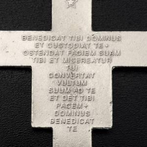 Pendente croce San Damiano metallo argentato h 8,5 cm s3
