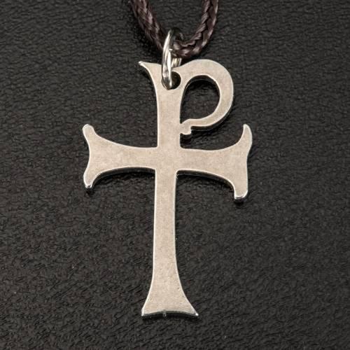 Pendiente Cruz de Aquileia acero 3 cm s2