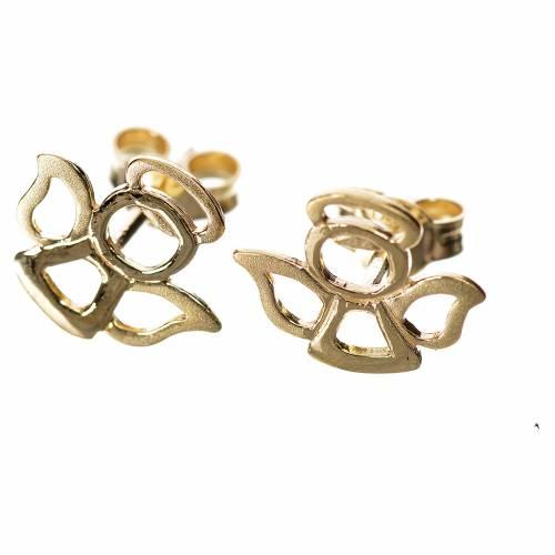 Pendientes ángeles estilizados oro 750/00, 1.10 gr s1