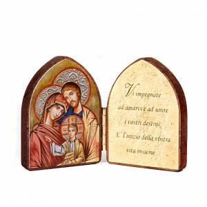 Cuadros, estampas y manuscritos iluminados: Pequeño díptico imagen y frase