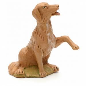 Animales para el pesebre: Perro sentado 30 cm Fontanini