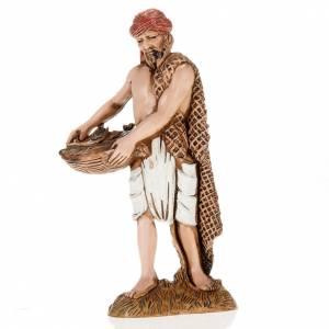 Pescador con cesta y red 10 cm. Moranduzzo s1