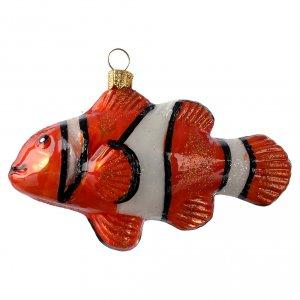 Pesce pagliaccio (Nemo) addobbo vetro soffiato Albero Natale s1