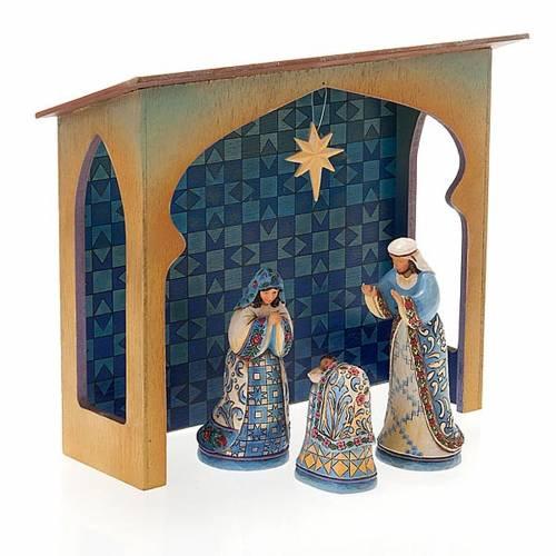 Pesebre resina 13,5 cmMini Blue Nativity s7