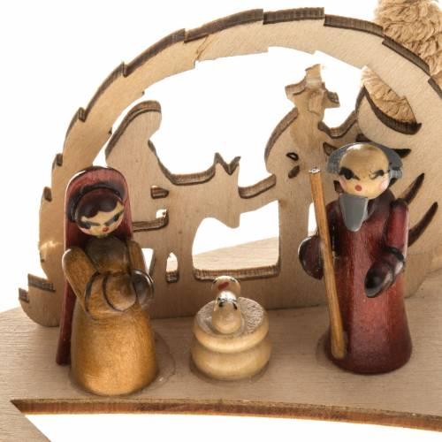 Piccolo presepe russo legno abete con candela s2