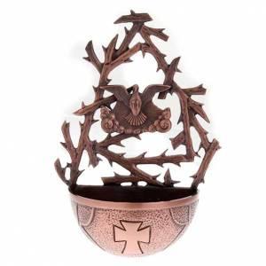 Pila de agua bendita bronce con paloma s1