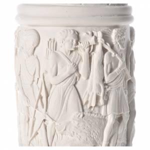 Pilier décoré marbre reconstitué, 80 cm s5