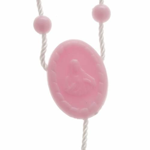 Pink nylon rosary s2