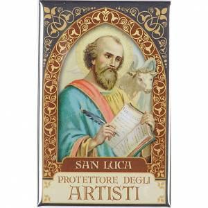 Religiöse Magnete: Platte Heilig Luca Gold