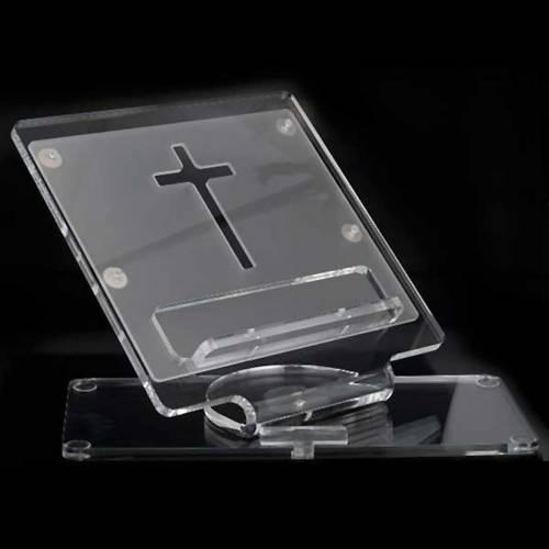 Plexiglass book stand with cross 4