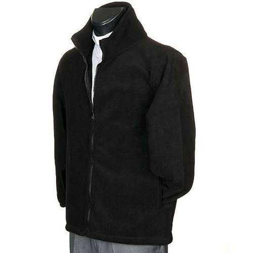 Polaire homme noir, zip et poches s2