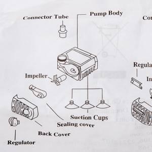 Pompa acqua presepe fai da te 2.5 W AP300 s2